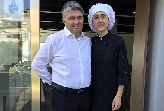 Luca mettimano con moglie osteria dei sani