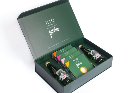 NIO Cocktails Perrier milano Box aperta murakami 570